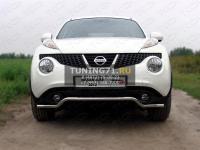 Защита передняя (кенгурин) 42,4 мм Nissan Juke 2012 (2WD/4WD Turbo)